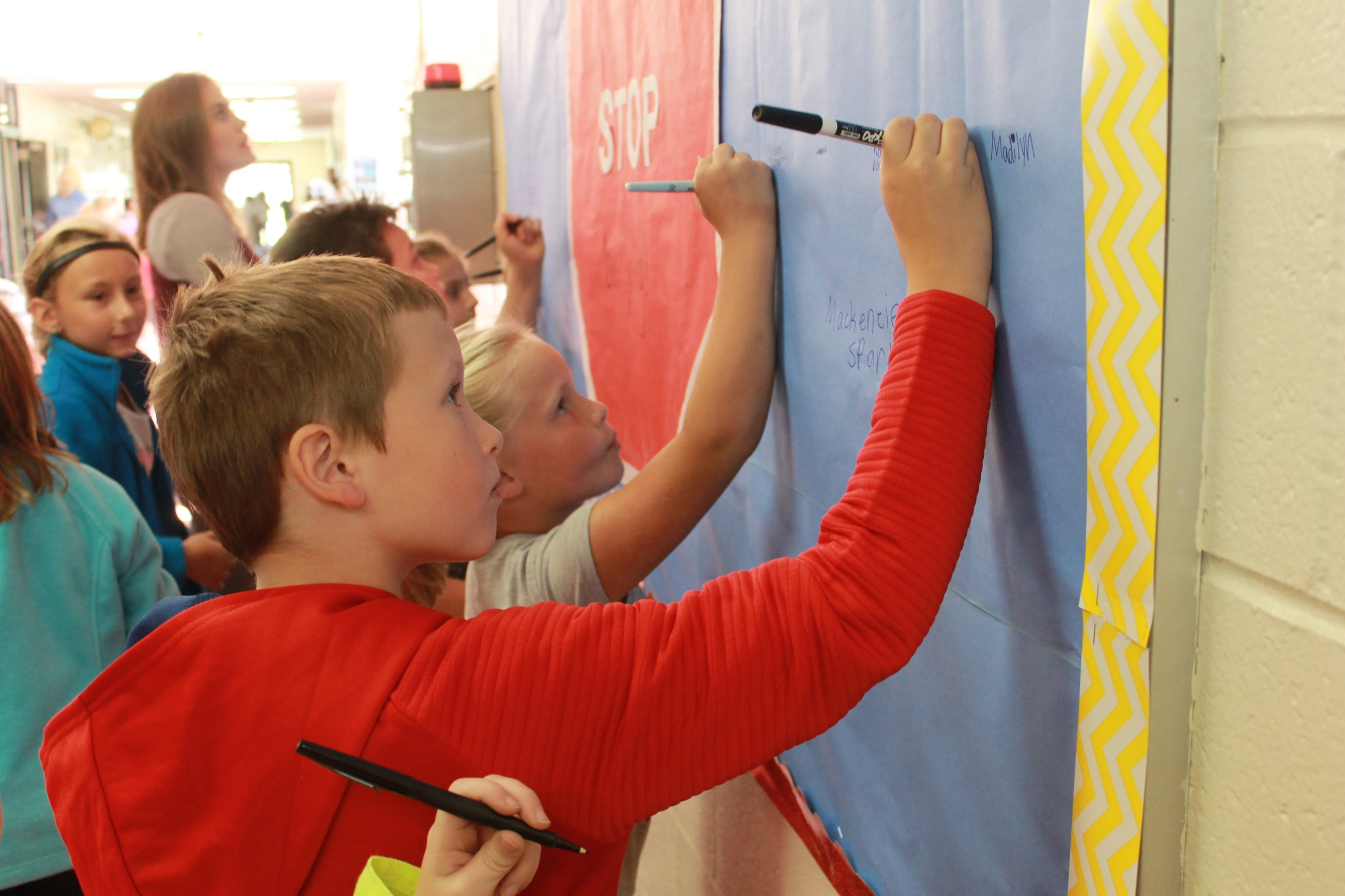 Students Pledge to Stop Bullying