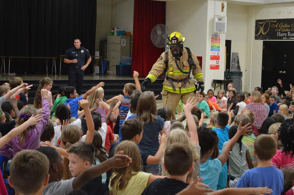 Firemen Visit Russell