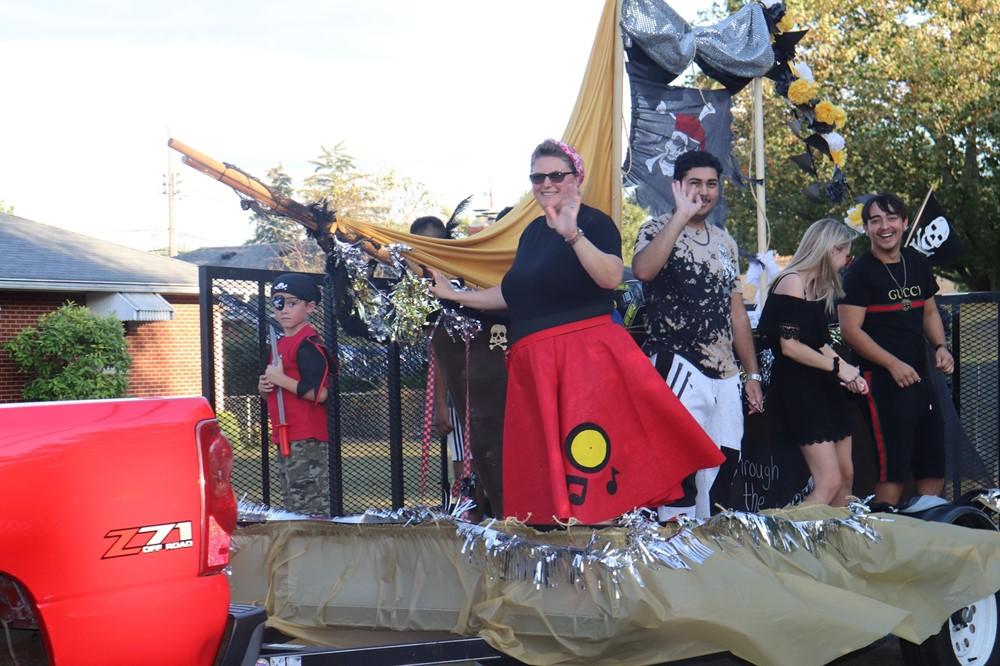 High School Homecoming Float