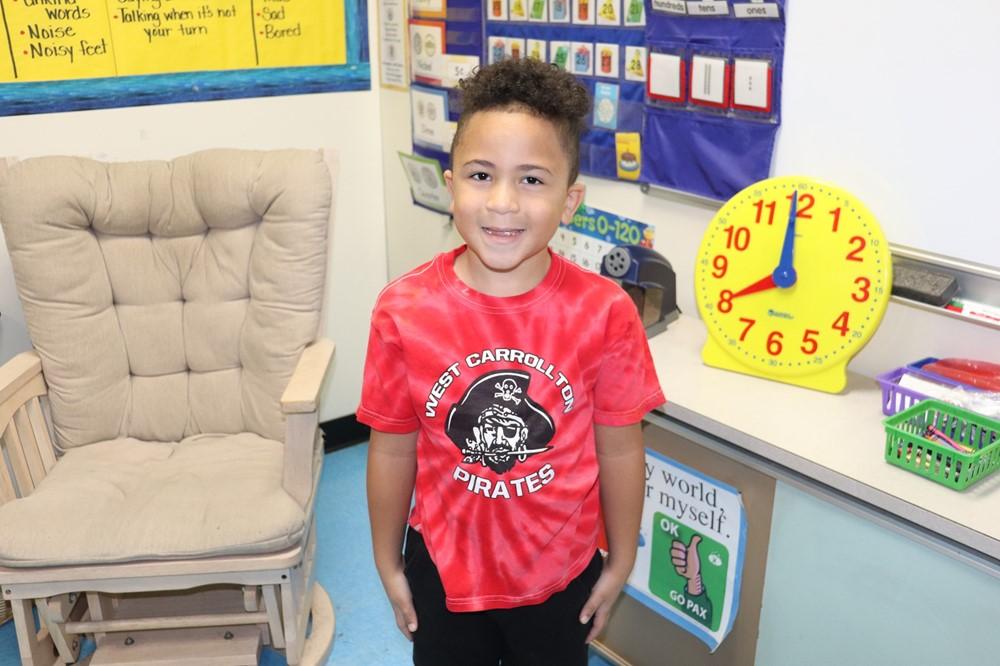 Boy in Pirates Shirt