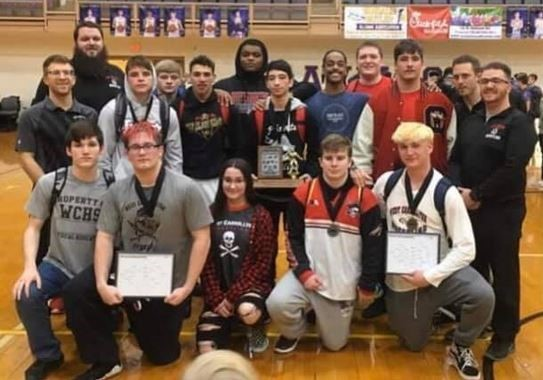 Wrestling Team MVL Winners