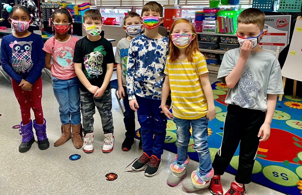 First Grade Mask Decorating