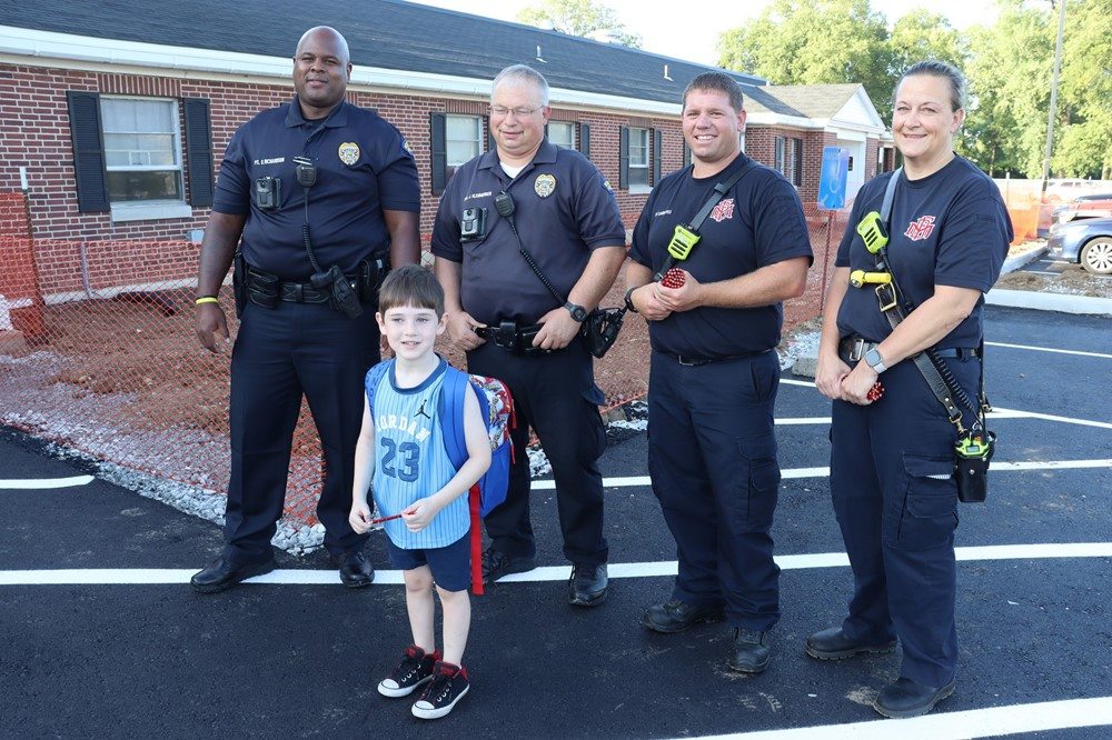 Moraine Police and Fire with Student